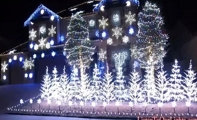 Incredible Christmas Light Show Set To Frozenu0027s U201cLet It Gou201d [VIDEO] Good Ideas
