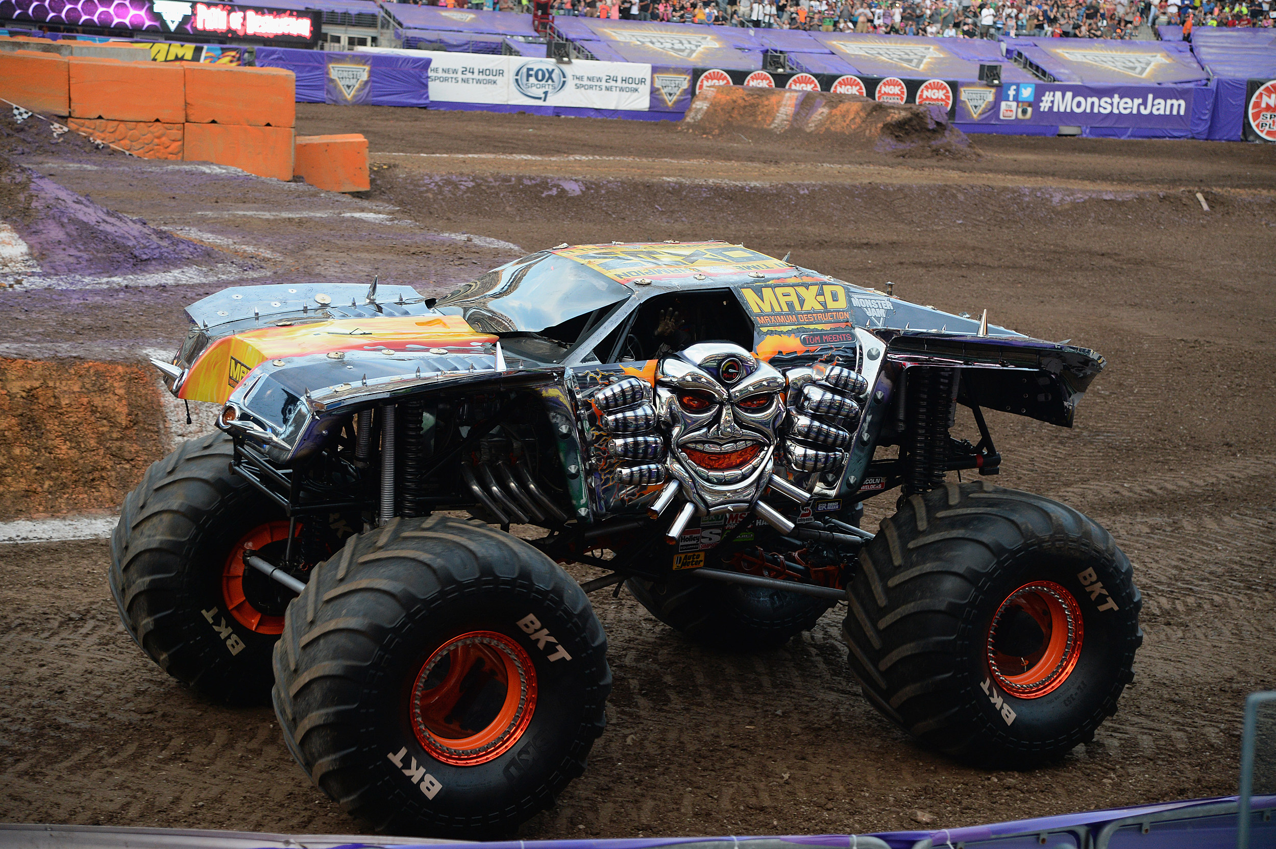 World Champion Tom Meents Attempts A Never-Before-Done Front Flip Of His Monster Truck