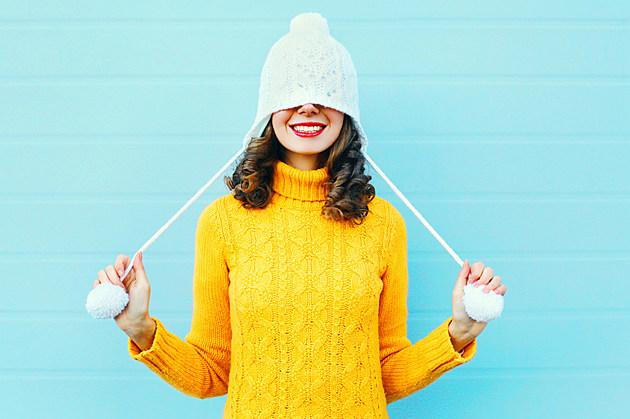 Girl Winter Hat Yellow Sweater